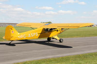 G-ASPS @ EGBR - Piper J3C-90 at Breighton Airfield's Auster Fly-In. May 4th 2015. - by Malcolm Clarke