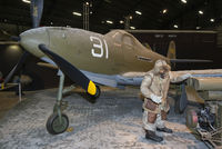 44-3887 @ KFFO - This winter diorama shows ground crew with a Type F-1A Utility Heater in front of Airacobra 41-7073 flown by Lt. L. Spoonts of the 57th FS based on Adak Island during the Aleutians Campaign in 1942.
