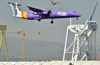 G-JECF @ EGAC - Belfast City.  Flybe G-JECF arriving from Liverpool. - by Albert Bridge