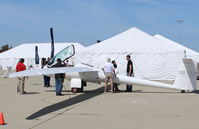 N140VT @ CMA - 2014 Stemme GMBH S10-VT CHRYSALIS (USAF TG-11A) motor  glider, Turbo ROTAX 914 mid-engine, fully retractable variable pitch prop, span 75'5.5. An S10-VT set the soaring record of 1,530 miles. At AOPA FLY-IN. - by Doug Robertson