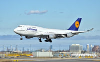 D-ABVX @ CYYZ - Lufthansa 747 taxing after arriving at Toronto Pearson Int'l Airport - by 716 Photography