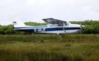 G-AVJF @ EGFH - Visiting Reims/Cessna Skyhawk - by Roger Winser