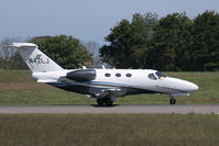 N42LJ @ EGJB - Rolling out after arrival in Guernsey - by alanh