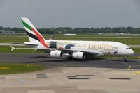 A6-EER @ EDDL - Airbus A380-861 - Emirates 'United for wildlife' - 139 - A6-EER - 23.04.2017 - DUS - by Ralf Winter