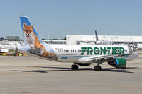 N229FR @ KORD - Peachy the Fox taxiing out for departure.