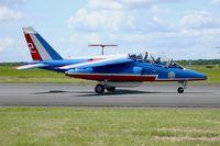 E114 @ LFOA - Dassault-Dornier Alpha Jet E (F-TERR), Athos 02 of Patrouille de France 2016, Avord Air Base 702 (LFOA) Open day 2016 - by Yves-Q
