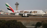 A6-EEQ @ LAX - Emirates United For Wildlife A380