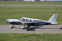 G-EDYO @ EGJB - Taxying for departure, Guernsey - by alanh