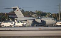 A7-MAN @ MIA - Royal Qatar Air Force C-17 - by Florida Metal