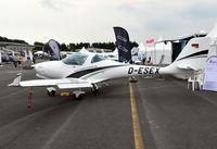 D-ESEX @ EGTB - Aquila A-211GX at AeroExpo 2017, Wycombe Air Park. - by moxy