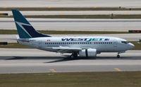 C-GEWJ @ MIA - West Jet - by Florida Metal