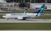 C-GWBN @ FLL - West Jet - by Florida Metal
