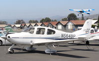 N564BP @ SZP - 2001 Cirrus SR22, Continental IO-550 310 Hp, N117CP on takeoff climb Rwy 22, a twofer! - by Doug Robertson