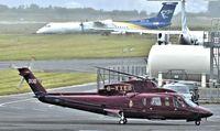 G-XXEB @ EGAC - Belfast City.  The Queen's Helicopter Flight Sikorsky S-76C (G-XXEB) arriving. - by Albert Bridge