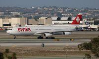 HB-JMO @ LAX - Swiss A340-300