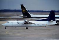 D-AFKP @ EDDK - Fokker 50 - DLT out of colours - D-AFKP - 16.02.1992 - CGN - by Ralf Winter