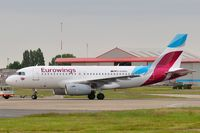 D-AGWQ @ EGSH - Removed from paint shop with Eurowings colour scheme. - by keithnewsome