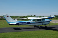D-EJNG @ EDWR - Cessna 182 Skylane taxiing at the airfield on the German island of Borkum - by Van Propeller