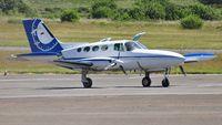 D-ISAV @ EGFH - Visiting Cessna 402B survey aircraft. - by Roger Winser
