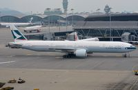 B-KQI @ VHHH - Cathay B773 for departure - by FerryPNL
