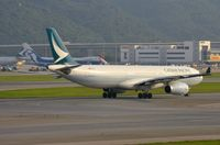 B-LAJ @ VHHH - Cathay Pacific A333 - by FerryPNL