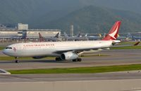 B-LBG @ VHHH - Cathay Dragon A333 taxying. - by FerryPNL