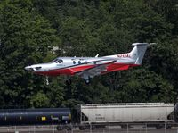 N213AL @ KBFI - Pilatus with Airlift Northwest landing at KBFI