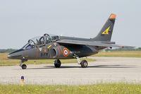 E105 @ LFRJ - Dassault-Dornier Alpha Jet E, Taxiing to parking area, Landivisiau Naval Air Base (LFRJ) - by Yves-Q