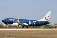 D-ATUD @ LMML - B737-800 D-ATUD Tui Blue special livery - by Raymond Zammit