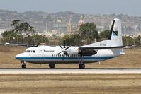 5H-TGF @ LMML - Fokker50 5H-TGF Government of Tanzania - by Raymond Zammit