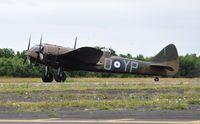 G-BPIV @ EGFH - Representing Bristol Blenheim 1f aircraft L6739 coded YP-Q of 23 Squadron RAF. - by Roger Winser