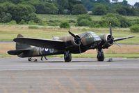 G-BPIV @ EGFH - Represent Bristol Blenheim 1f aircraft L6739 coded YP-Q of 23 Squadron RAF. - by Roger Winser