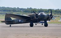 G-BPIV @ EGFH - In the markings of Bristol Blenhem 1f aircraft L6739 coded YP-Q of 23 Squadron RAF. - by Roger Winser