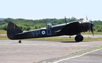G-BPIV @ EGFH - In the markings of Bristol Blenheim 1f aircraft L6739 coded YP-Q of 23 Squadron RAF. - by Roger Winser