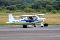 G-OSTL @ EGFH - Ikarus C42, Carrickmore County Tyrone based, seen parked up. - by Derek Flewin
