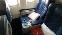 N129DL @ MCO - My first class seat from MCO-DTW