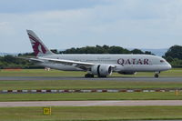 A7-BCE @ EGCC - Just landed at Manchester. - by Graham Reeve