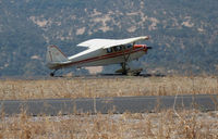 N1348C @ KCPU - 1953 Piper PA-22-135 Tri-Pacer rolling out after touchdown from Chandler, AZ @ Maury Rasmussen Field/Calaveras County Airport, San Andreas, CA - by Steve Nation