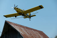 N60707 - N60707 making a close pass over a barn in Cass County, Nebraska - by captpackrat