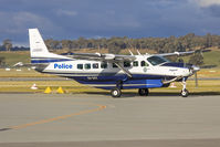 VH-DVV @ YSWG - New South Wales Police Force (VH-DVV) Cessna Grand Caravan 208B EX taxiing at Wagga Wagga Airport. - by YSWG-photography