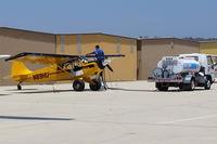 N89HU @ CMA - 2009 AVIAT A-1C-200 HUSKY, Lycoming IO-360-A1D6 200 Hp, refueling - by Doug Robertson