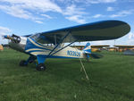 N33526 @ OSH - 1944 Piper J3C-65, c/n: 2360A.  Piper Cub's don't have to be yellow. - by Timothy Aanerud