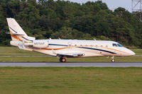 N819AP @ KORF - Northshore 819 from Teterboro Airport (KTEB) rolling out on RWY 23 after landing. - by Dean Heald
