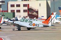 E20-6 @ LECU - Beechcraft 95-B55 Baron of the Ejercito del Aire at Madrid Cuatro Vientos Airport - by Ingo Warnecke
