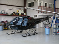 N5695A @ KVCB - Locally-based 1980 Enstrom 280C in open hangar @ Nut Tree Airport, Vacaville, CA - by Steve Nation