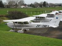 ZK-TAV @ NZAR - on flying club ramp - by magnaman
