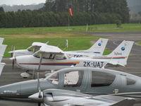 ZK-UAT @ NZAR - on flying club apron - by magnaman