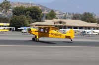 N38003 @ SZP - 1941 Piper J3C-65 CUB, Continental A&C65 65 Hp, landing roll Rwy 22 - by Doug Robertson