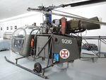 9216 - Sud-Est SE.3130 Alouette II at the Museu do Ar, Alverca
