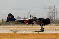 N712Z @ KCNO - Mitsubishi A6M3 Zero  C/N 3869, NX712Z